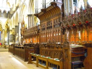Inside of The Cathedral Choir Stalls