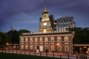 Night View of Independence Hall