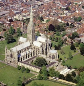 Salisbury Cathedral Ariel View