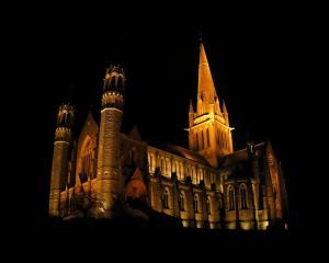 Salisbury Cathedral at Night