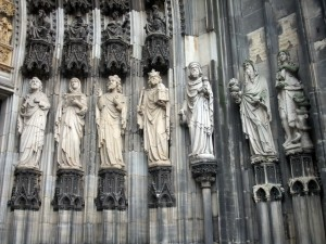 Statue of Cologne Cathedral Outside
