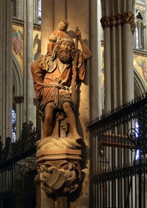 Statue of St. Christopher Inside the Cathedral