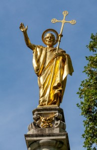 The Gilt Statue at the Top of St Paul's Cathedral