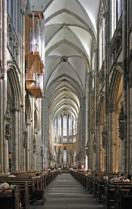 The Nave Looking East Inside the Cathedral