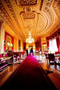 Windsor Castle Crimson Drawing Room Inside