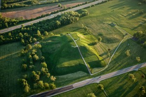 Cahokia Mounds Aerial View