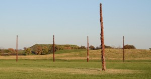 Cahokia Woodhenge and Monk's Mound
