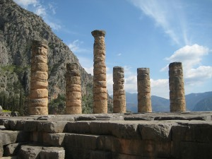 Columns of the Temple of Apollo at Delphi