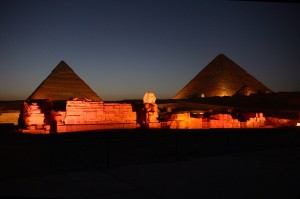 Great Pyramid of Giza at Night