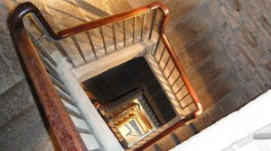 Inside Stairs in the Tower of Hercules