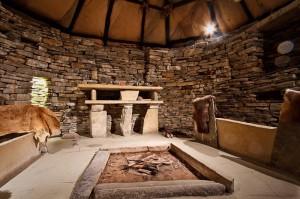 Inside of Skara Brae