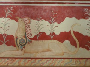 Knossos Frescoes in Throne Palace