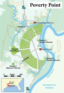 Monumental Earthworks of Poverty Point Map