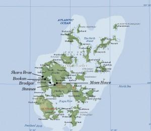 Skara Brae Map