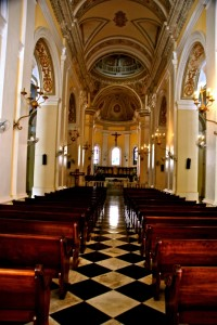 Interior of Cathedral of San Juan Bautista