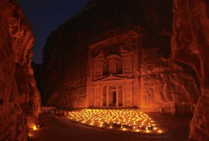 Night at Treasury of Petra