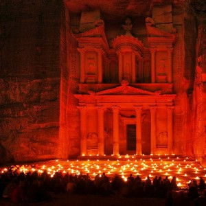 Treasury of Petra at Night