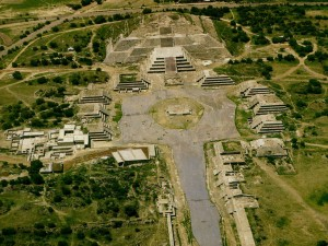 Aerial View of Teotihuacan