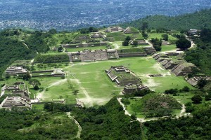 Monte Alban Aerial View