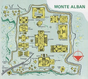 Monte Alban Map