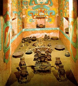 Monte Alban Tomb Artifacts Inside