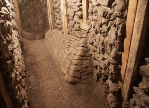 Teotihuacan Sun Pyramid Inside