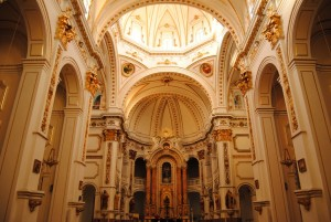 Interior of La Valenciana Church