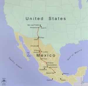 Camino Real de Tierra Adentro Map