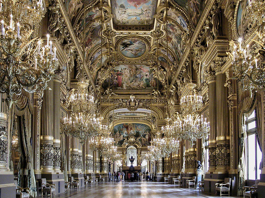 The Grand Foyer Palais Garnier : Palais garnier historical facts and pictures the history hub