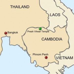 Preah Vihear Temple Map