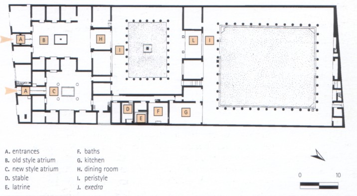 House Of The Faun Facts Pictures on House Floor Plans With Atrium