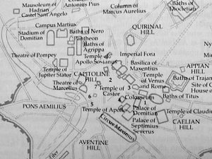 Arch of Titus Map