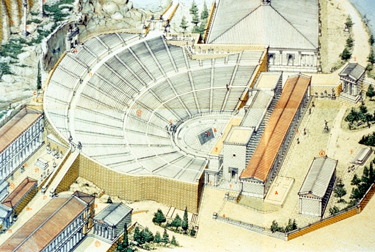 the history of greek theaters and performing arts Bbc primary history - ancient greeks - arts and theatre greek theatre the arts, such as music.
