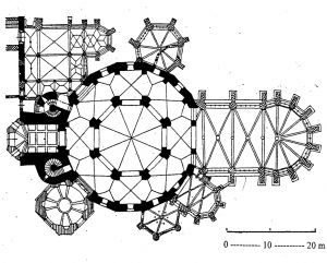 Aachen Cathedral Plan